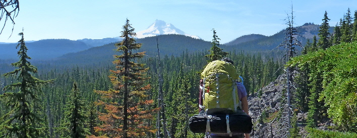 Olallie Scenic views of Mt Jefferson and lakes