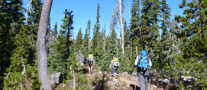 Next Adventure Olallie Backpack hikers