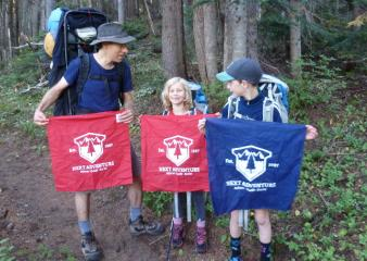 Family from Seattle with Next Adventure Bandanas