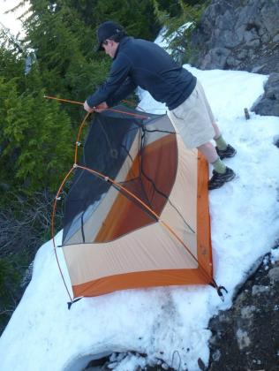 Next Adventure backpack Big Agnes tent