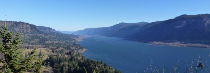 Columbia River Gorge from Cape Horn view east