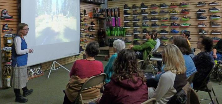 Hiking author Lisa Holmes presentation at Next Adventure