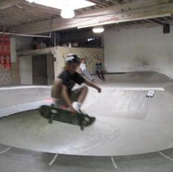 Keegan floating a frontside air