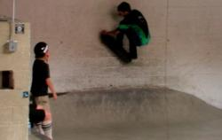 Baca skates everything including the walls