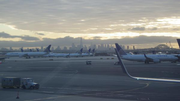 New York Airport Sunrise