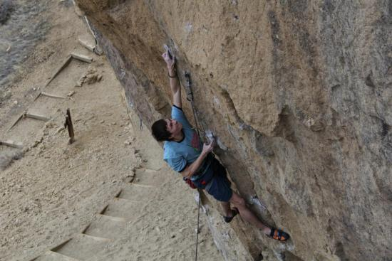Micah Bishop trying out Rude Boys, Smith Rock