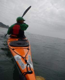 Paddling the Zephyr 155 Pro at Cascade Head