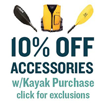 10% off accessories with kayak purchase