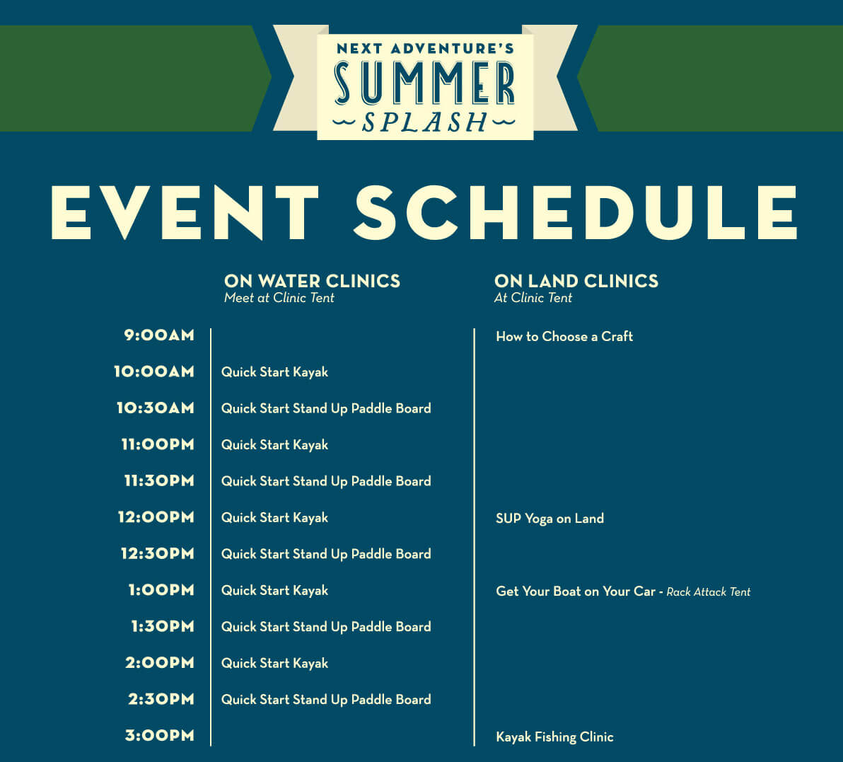 Summer Splash clinics