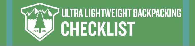 ultra lightweight backpacking checklist