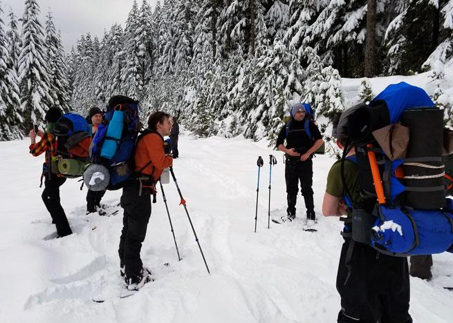 Next Adventure Outdoor School Winter Camping Trip