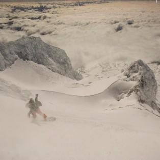 Snowboarding Mt. Hood's Old Chute, Oct. 3rd