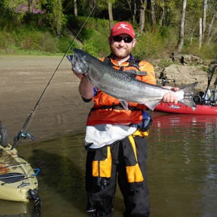 Kayak Fishing: Chinook Salmon Willamette River