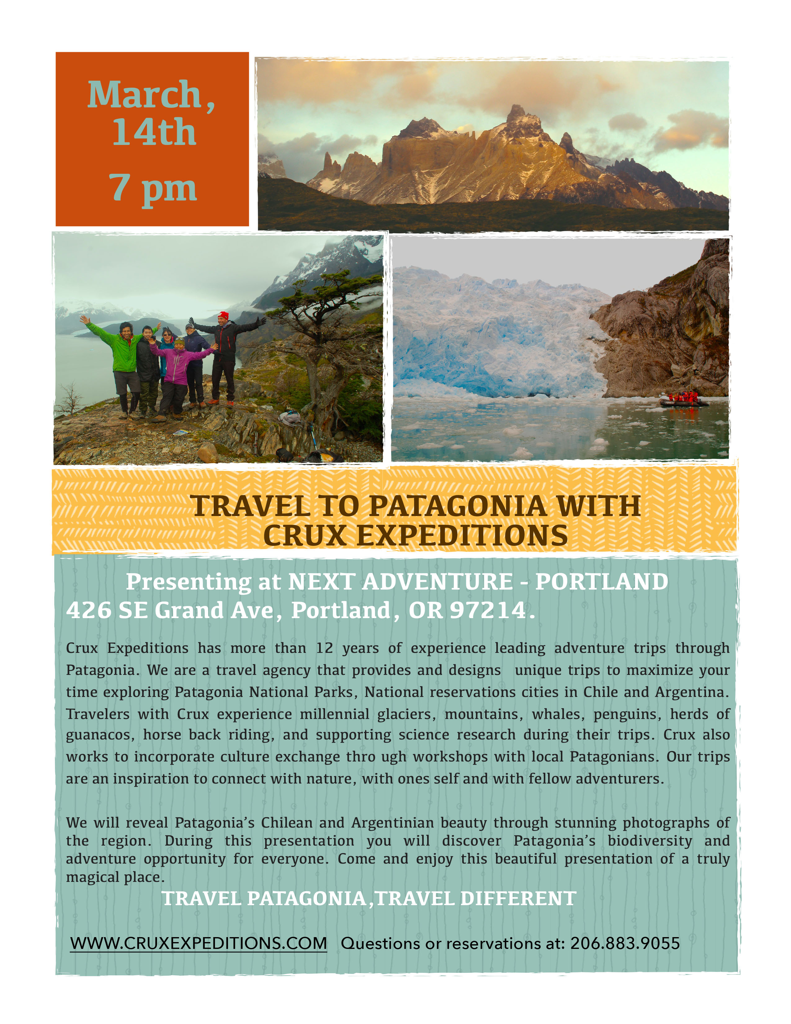 Patagonia presentation flyer