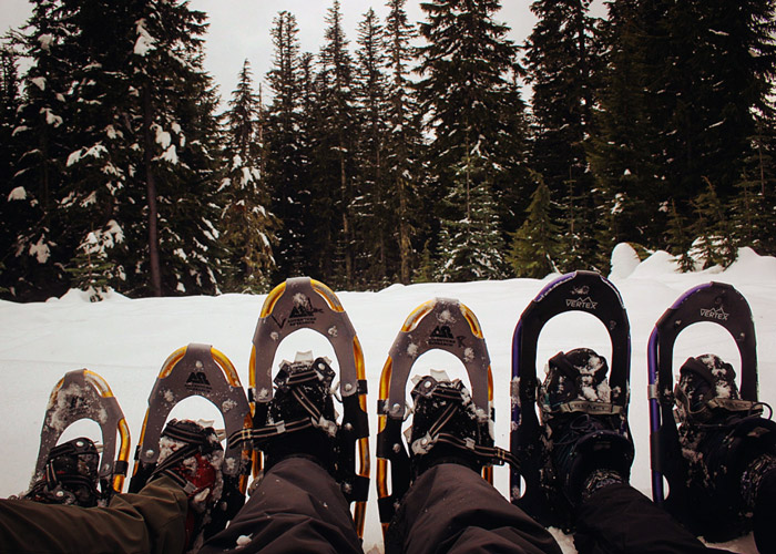 Snowshoeing Bennet Pass
